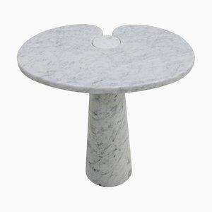 Italian Eros Carrara Marble Side Table by Angelo Mangiarotti for Skipper