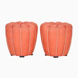 Art Deco Round Stools by Jindrich Halabala for Up Závody, 1920s, Set of 2