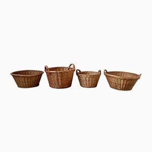 Bohemian Style Wicker Baskets, Set of 4