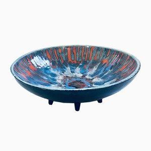 Art Studio Pottery Ceramic Dish by Walter Van den Panhuyzen, Belgium, 1960s