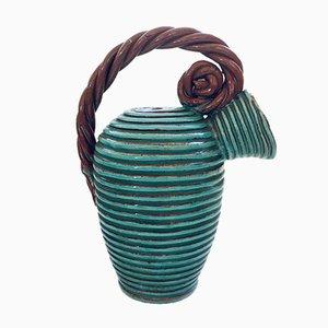 Art Studio Pottery High Rope Decanter by Alexandre De Wemmel, Belgium, 1950s