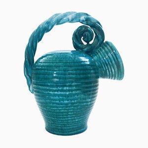 Art Studio Pottery Flamed Rope Decanter by Alexandre De Wemmel, Belgium, 1950s