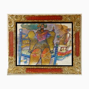 Mixed Media and Collage on Canvas by Théo Tobiasse, 1927-2012