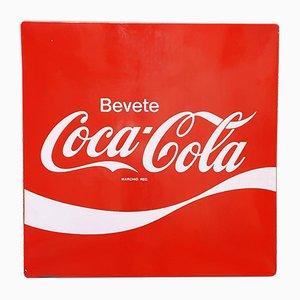 Coca Cola Schild von Smalterie Lombarde, Italien, 1960er