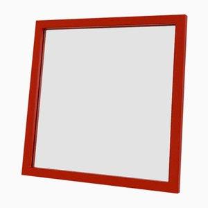 Model 4727 Red Frame Mirror by Anna Castelli Ferrieri for Kartell, 1980s