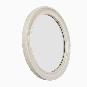 Weißer runder weißer Amerika Spiegel von Carrara & Matta, 1970er