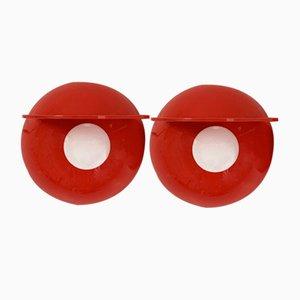 Rote Buco Wandlampe von Claudio Dini für Artemide, 1970er