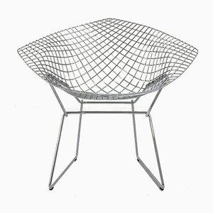 Chromed Diamond Side Chair by Harry Bertoia for Knoll Inc. / Knoll International, 1990s