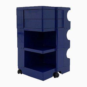 Blue Boby Trolley by Joe Colombo for Bieffeplast, 1960s