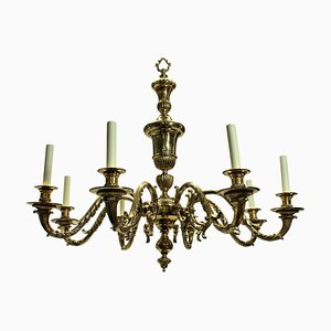 Large Charles II Style English Chandeliers, 1930s, Set of 2