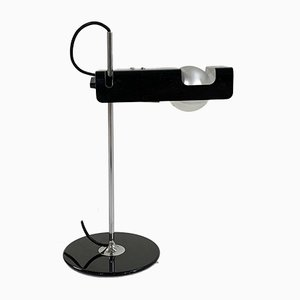 Black Spider Table Lamp by Joe Colombo for Oluce, 1960s