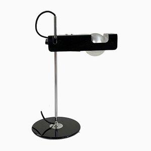 Schwarze Spider Tischlampe von Joe Colombo für Oluce, 1960er