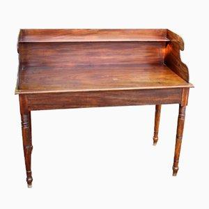 Mahogany Washstand with Small Shelf, 1830s