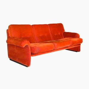 Velvet Sofa, 1970s