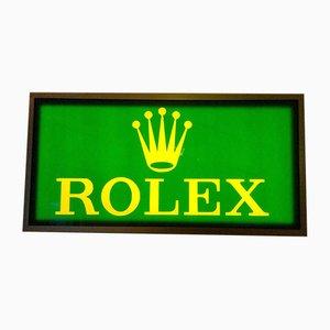 Panneau Publicitaire Lumineux Rolex en Plexiglas et Bois