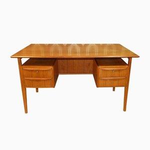 Freistehender Teak Schreibtisch von Tibergaard, 1960er