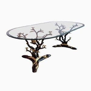 Table Basse Oiseau en Bronze par Willy Daro