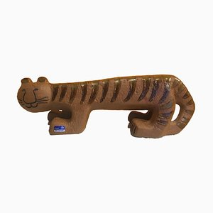 Scandinavian Stoneware Africa Series Tiger by Lisa Larson for Gustavsberg, 1964
