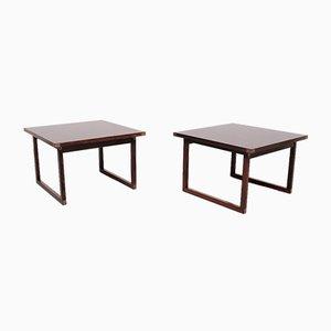 Rosewood Tables by Rud Thygesen for Heltborg Mobler, 1960s, Denmark, Set of 2