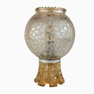 Schwedische Kristallglas Tischlampe, 1960er
