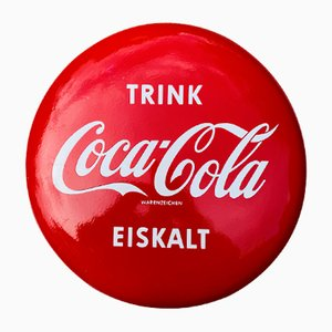 Mid-Century Coca Cola Disc Sign, Germany