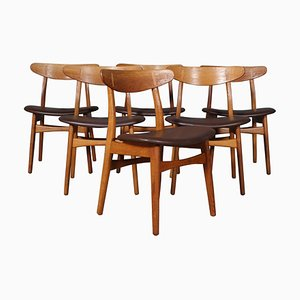 Model CH-30 Dining Chairs in Oak by Hans J. Wegner for Carl Hansen & Søn, Set of 4