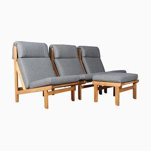 Dänischer Rag Sessel aus Kiefernholz und Stoff von Bernt Petersen