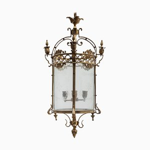 Antique Bronze Hall Lantern, France