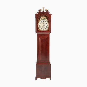 Antique George III Mahogany Inlaid Eight Day Grandfather Clock