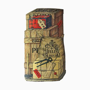 Import Export Trompe l'Oeil Umbrella Stand by Piero Fornasetti, 1950s