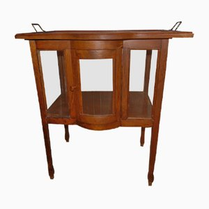 Art Deco Wooden Bar Cabinet or Display Cabinet with Tray