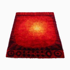 Space Age Handmade Wool Carpet, Germany, 1970s