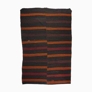 Turkish Mid-Century Modern Minimalist Striped Kilim Rug