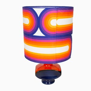 Purple Sidebows Table Lamp