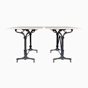 French Bistro Tables, Set of 2