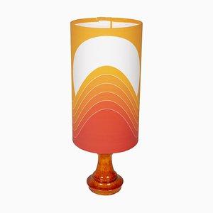 Orangefarbene Rainbow Tischlampe von Goebel