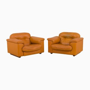 Vintage James Bond Reclining DS 101 Lounge Chairs from De Sede, Set of 2