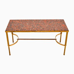 Italian Brass and Marble Coffee Table, 1960s
