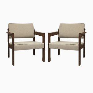 Holzstühle, 1970er, 2er Set