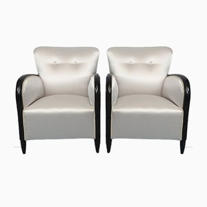 Vintage Armchairs in the Style of Paolo Buffa, Italy, 1940s, Set of 2