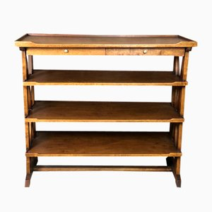 Louis Philippe Solid Walnut Storage Cabinet
