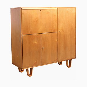 Birch CB 01 Writing Cabinet by Cees Braakman for Pastoe, 1950s