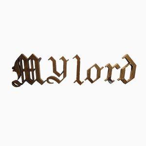 Juego de letras de estilo gótico My Lord