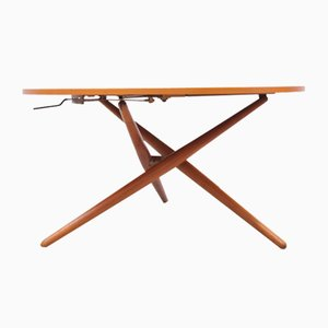 Adjustable Table in Cherry by Jürg Bally for Wohnhilfe
