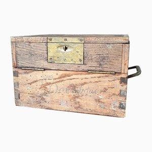 Antike Kommode aus Holz & Messing