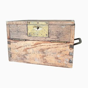 Antique Wood and Brass Chest