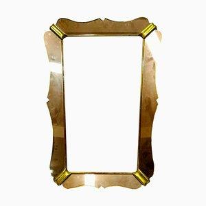 Pinker Glas Spiegel von Luigi Fontana für Fontana Arte, 1940er