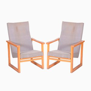 20th Century Beige Maple Armchairs, Czechia, 1960s, Set of 2