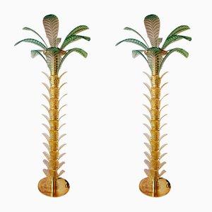 Glass Palms, Set of 2