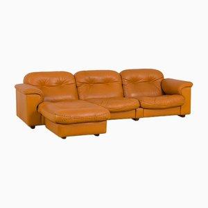 Divano reclinabile DS101 con poggiapiedi di De Sede, set di 2